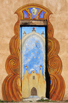 Santa Fe Doorway Art Print