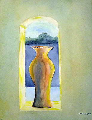 Painting - Santa Fe Window by Linda Pope