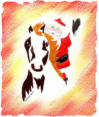 Santa Is Coming To Town Art Print by Mark Schutter