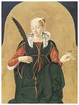 Santa Lucia Art Print by Francesco Del Cossa