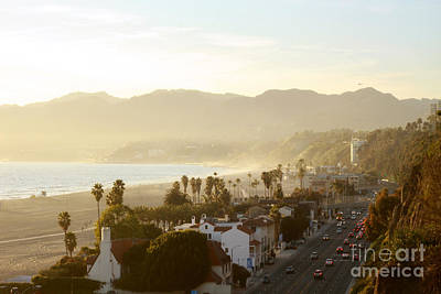 Santa Monica Beach Art Print by Yulia Bekar