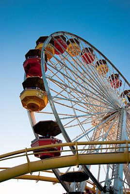 Carnival Photograph - Santa Monica Ferris Wheel II by Heidi Reyher