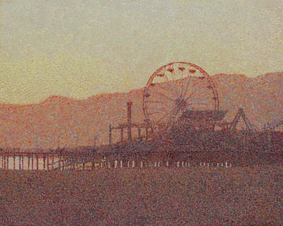 Santa Monica Pier At Dawn Original by Catherine Bath