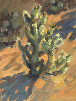 Painting - Santa Rosa Cholla by Diane McClary