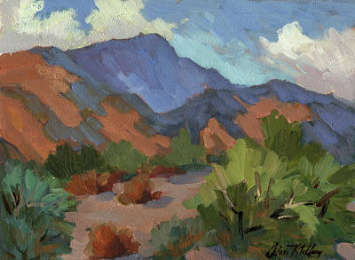 Willow Lake Painting - Santa Rosa Mountains by Diane McClary