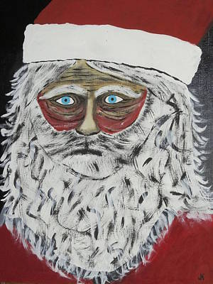 Hard Times Painting - Santa Stressed Out by Jeffrey Koss