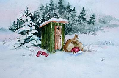 Painting - Santa Takes A Break by Pamela Lee