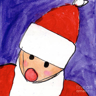 Painting - Santa by Taylor Spera Age Eight
