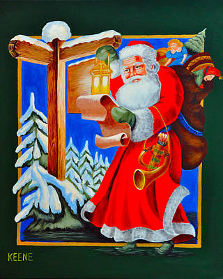 Santa's List Original by Jeanette Keene