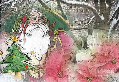 Digital Art - Santa's Snow Garden by Ruby Cross