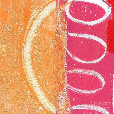 Red Abstract Mixed Media - Sante Fe Sunrise by Linda Woods