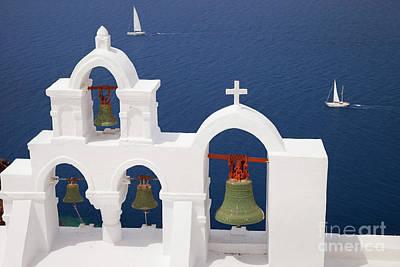 Photograph - Santorini Bells by Brian Jannsen