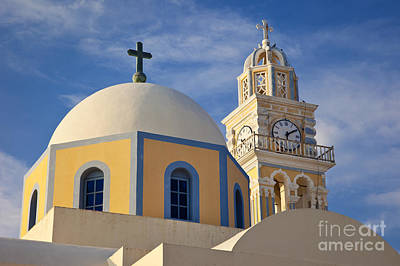 Photograph - Santorini Church by Brian Jannsen