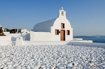 Photograph - Santorini Church by Johnny Sandaire