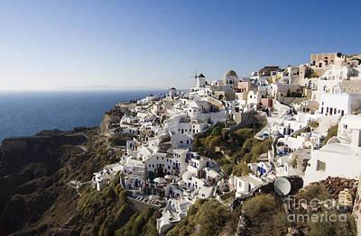 Leda Photograph - Santorini Cliff by Leslie Leda