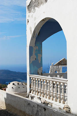 Photograph - Santorini Greece Balcony Vista by Eva Kaufman