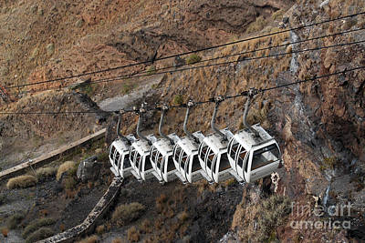 Photograph - Santorini Greece Cable Cars by Eva Kaufman