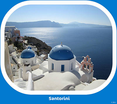 Photograph - Santorini Greece by John Shiron