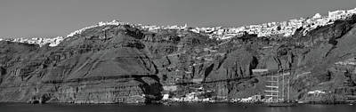 Photograph - Santorini Panoramic. by Terence Davis
