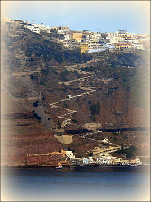 Photograph - Santorini Steps by Carla Parris