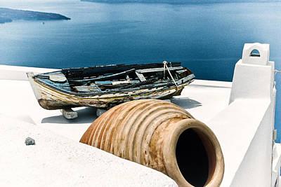 Santorini Still Life Art Print by Scott Massey