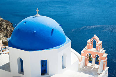 Photograph - Santorini Style by Johnny Sandaire
