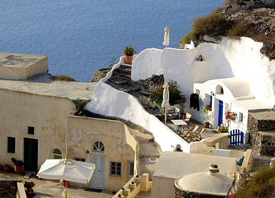 Photograph - Santorini Terrace by Carla Parris