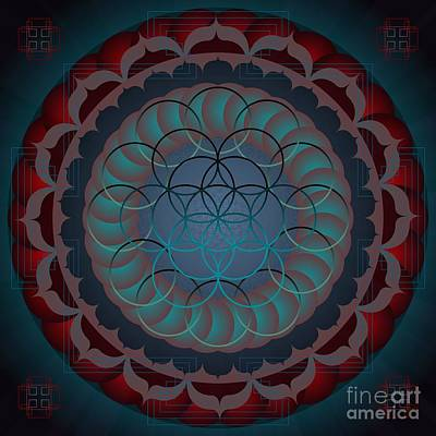 Digital Art - Santosha 2012 by Kathryn Strick