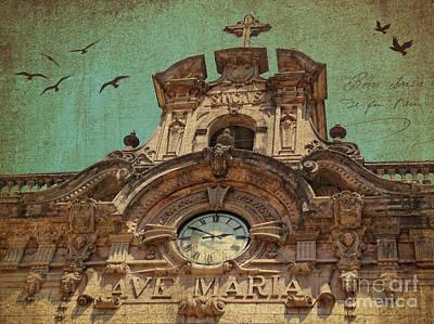 Monastery Mixed Media - Santuari De Santa Maria De Lluc by Angela Doelling AD DESIGN Photo and PhotoArt