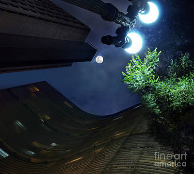 Copan Building And The Moonlight Art Print