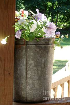 Photograph - Sap Bucket Planter by Kerri Mortenson