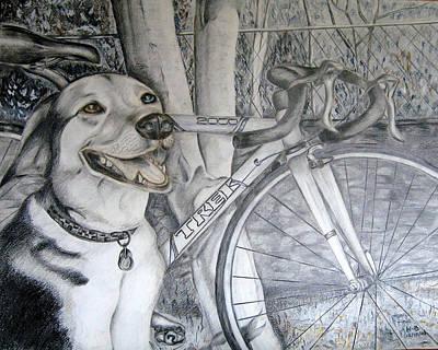 Sapphire And Bike Art Print by HHolly Bazmi