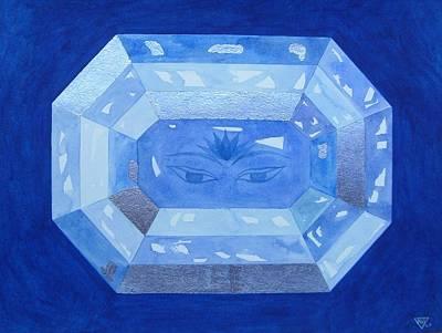 Sapphire Brow Chakra Art Print