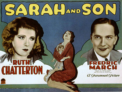 Posth Photograph - Sarah And Son, Ruth Chatterton, Fredric by Everett