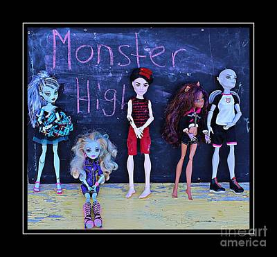 Gorgon Digital Art - Sarah's Monster High Collection by Barbara Griffin