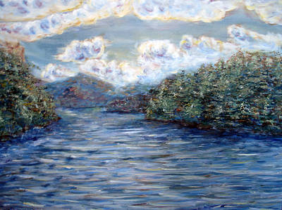 Painting - Saranac Lake On A Summer Evening by Denny Morreale