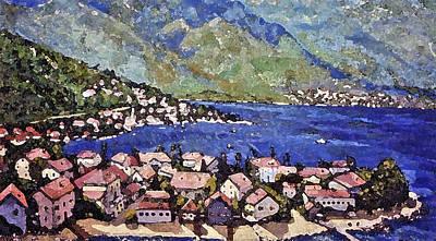 Painting - Sardinia On The Blue Mediterranean Sea by Rita Brown