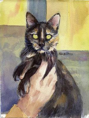 Tortie Painting - Sascha by Mimi Boothby
