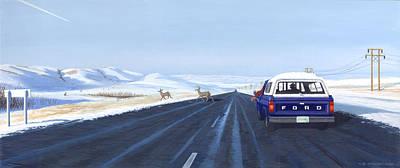 Canadian Winter Painting - Saskatchewan Beauty by Neil Woodward