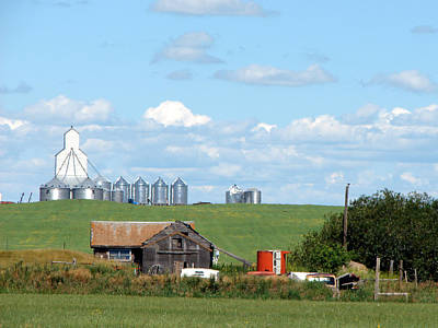 Mixed Media - Saskatchewan Farms Old And New by Bruce Ritchie