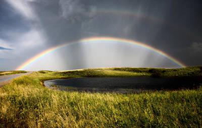 Agriculture Digital Art - Saskatchewan Storm Rainbow  by Mark Duffy