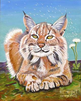 Painting - Sassy Lynx by Phyllis Kaltenbach