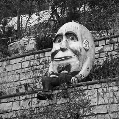 Humpty Dumpty Photograph - Sat On A Wall by David Waldo