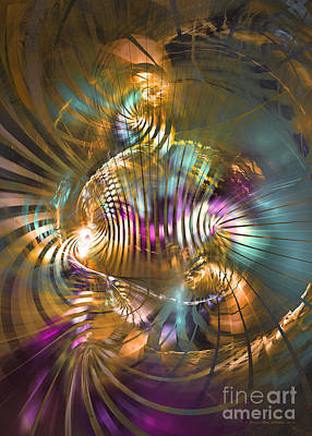 Colorful Abstract Algorithmic Contemporary Digital Art - Sat Sapienti by Sipo Liimatainen