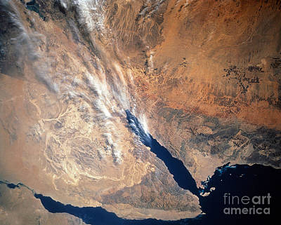 Satellite Image Of Land Art Print by Stocktrek Images
