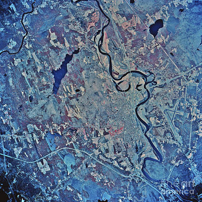 Satellite View Of Concord, New Art Print by Stocktrek Images