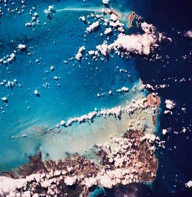 Satellite View Of The Ocean Art Print by Stockbyte