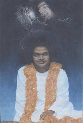 Sai Baba Painting - Sathya Sai Baba Divine II by Anne Provost