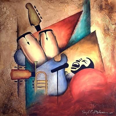 Virgil C Stephens Painting - Satin Rhythm by Virgil Stephens
