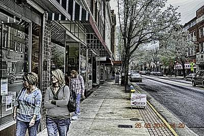 Emotionless Photograph - Saturday Down Town by Mike Waddell